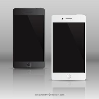 Paquete realista teléfonos móviles