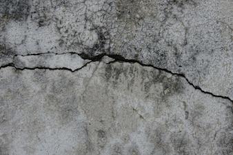Pared de cemento agrietada