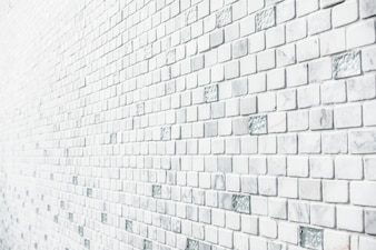 Pared de ladrillos blanca