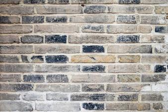 Pared de ladrillos con cemento