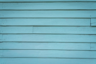 Pared de tablas de madera azul