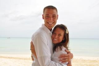 Pareja feliz pareja Playa