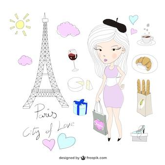 Paquete de ilustraciones de París
