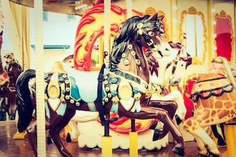 París niño caballos vacaciones rotonda