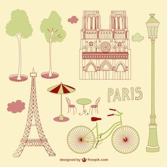 Dibujos a mano de París