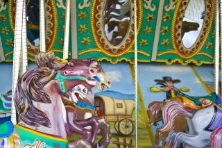 Parque temático carrusel, colgando