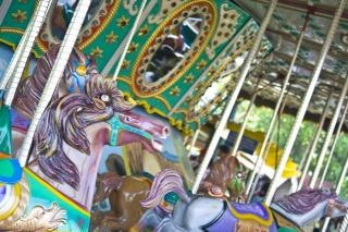 Parque temático carrusel, juerga