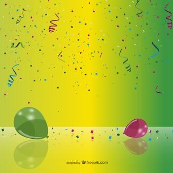 Confeti y globos de fiesta
