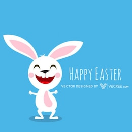 Pascua blanca Cartoon Bunny Enhorabuena