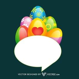 Pascua burbuja del discurso de huevo