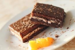 Pasteles del chocolate postre