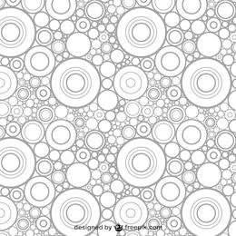 Patrón abstracto con círculos