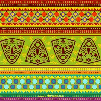 Patrón africano colorido
