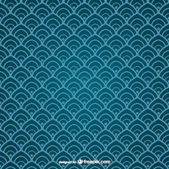 Patrón chino azul