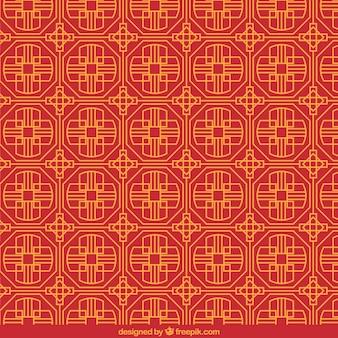Patrón chino en estilo geométrico