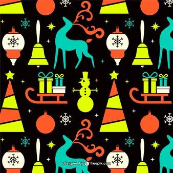 Patrón colorido de Navidad