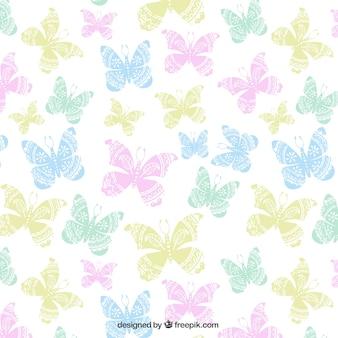 Patrón con mariposas de colores