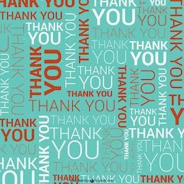 Patrón con tipografía de agradecimiento