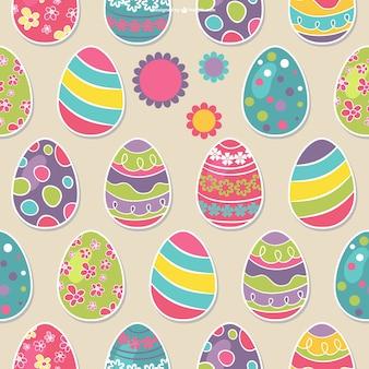 Patrón continuo de huevos de Pascua
