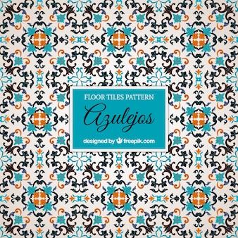 Patrón de azulejos en estilo vintage