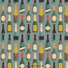 Patrón de botellas de champán