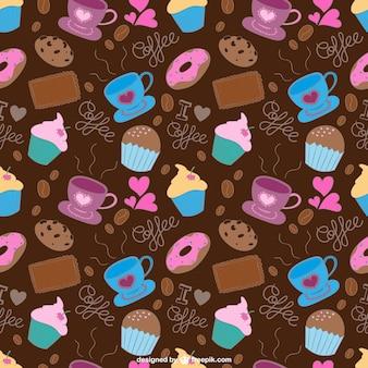 Patrón de Café y dulces