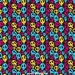 Patrón de calaveras de colores