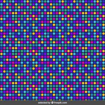 Patrón de colores punteados