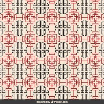 Patrón de cultura china en estilo geométrico