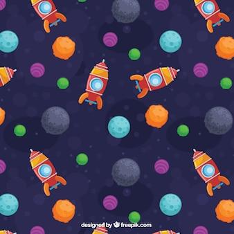 Patrón de espacio colorido