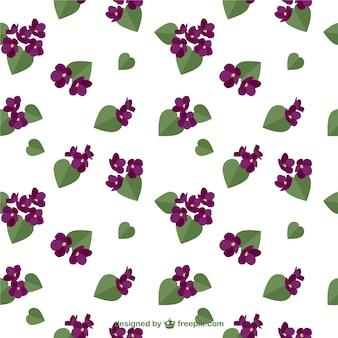 Patrón de flores púrpura