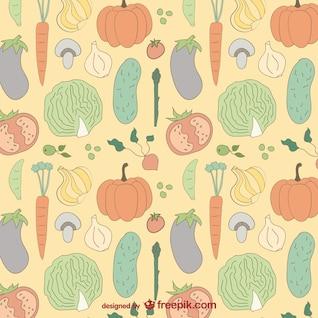Patrón de fondo de verduras de colores