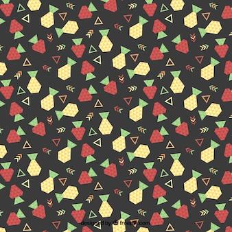 Patrón de fruta geométrica