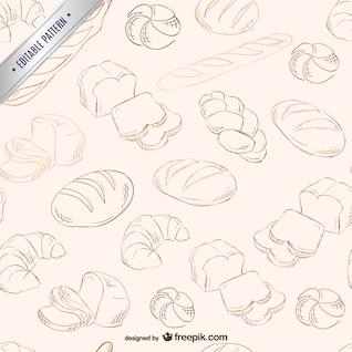 Patrón de garabatos de panes