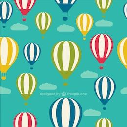 Patrón de globos aerostático