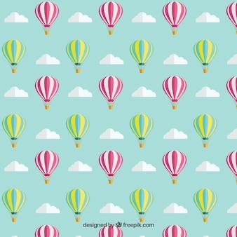 Patrón de globos aerostáticos