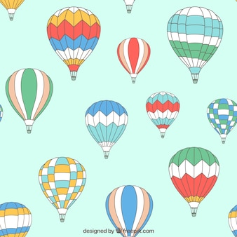 Patrón de globos de aire caliente
