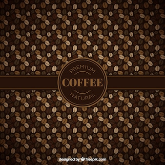 Patrón de granos de café