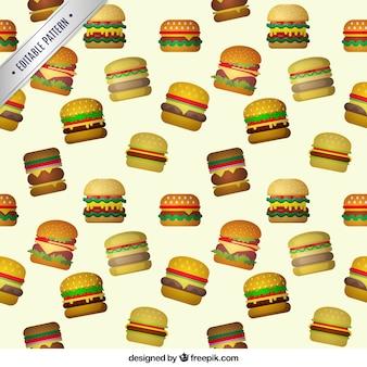 patrón de hamburguesas