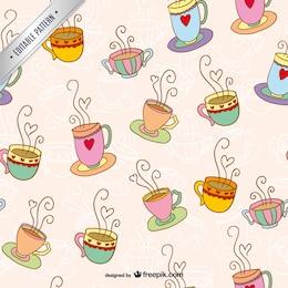 Patrón de las tazas de café