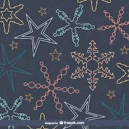 Patrón de los copos de nieve de colores