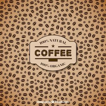 Patrón de los granos de café