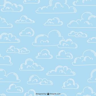Patrón de nubes esbozadas