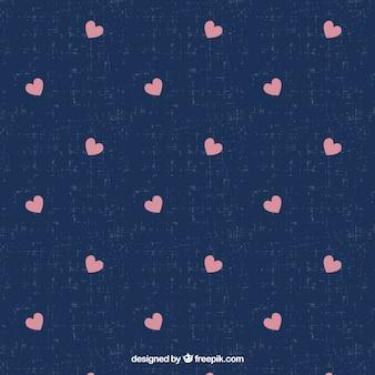Patrón de pequeños corazones