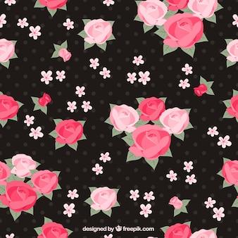 Patrón de rosas de color rosa