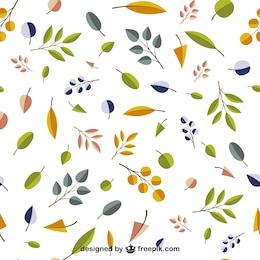 Patrón editable de hojas de otoño