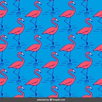 Patrón Flamingos