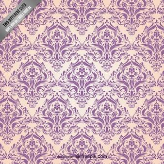 Patrón floral de estilo arabesco