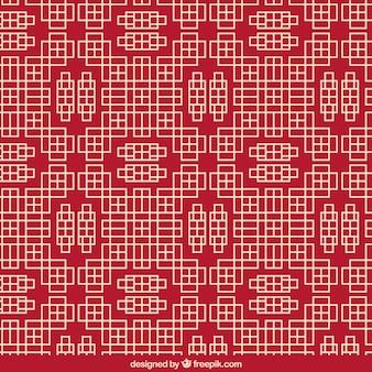Patrón geométrico chino