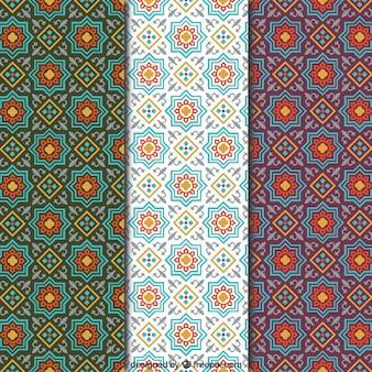 Patrones de mosaico árabe
